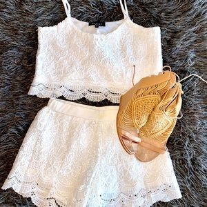 Summer Lacy Camisole & Shorts Combo Size S
